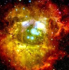 NASA - Hubble Telescope - In the Center of the Rosette Nebula [Full resolution]