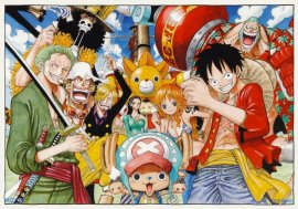 """One Piece"", a zany and action packed story of pirates."