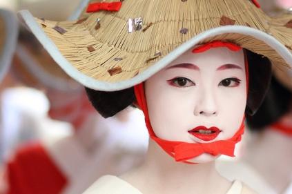 Maiko at a Gion festival.