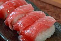 Maguro (tuna) sushi, my favorite.