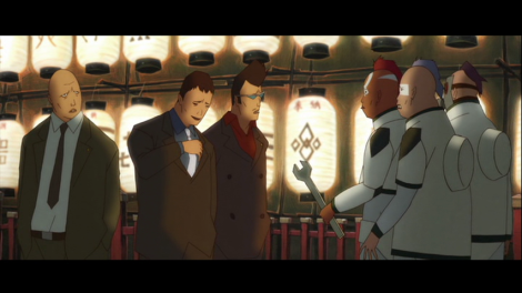 Yakuza harassing other street gangs in Treasure Town.