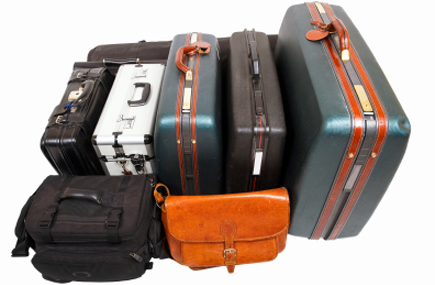 Various kinds of baggage.  Keep in mind weight restrictions for carry-on luggage.