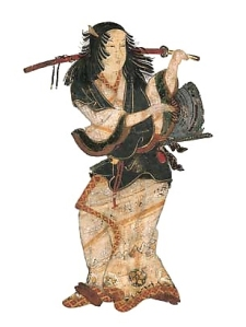 17th century portrait of kabuki's creator, Izumo no Okuni.