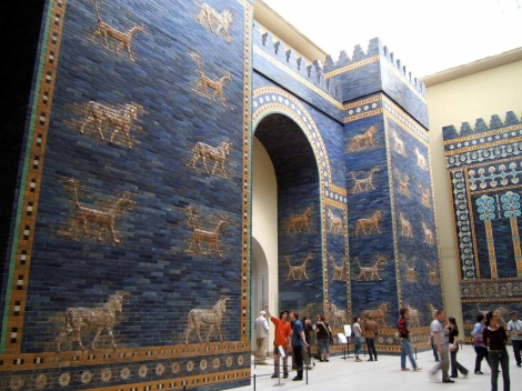 The Ishtar Gate at the Pergamon museum, Berlin.