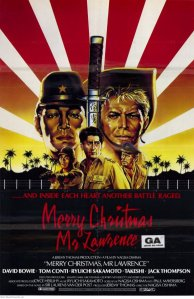 """""""Merry Christmas, Mr. Lawrence"""", a revisionist story of British POW's complex relationships with their Japanese captors.  The film's theme tune has since become iconic."""