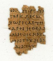 """The earliest known Greek papyrus of Philemon, designated """"p87"""", written around 200 years after the time of Jesus."""