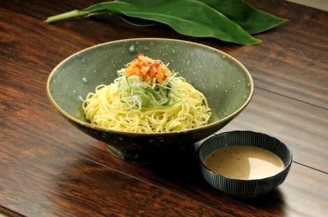 Zaru Ramen, cold noodles dipped into its broth.