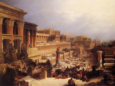 Israelites leaving Egypt.  By David Roberts.