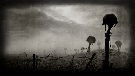 Война, каска, оружие, винтовка, кладбище, 1920x1080