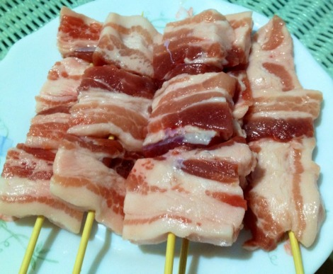 """Butabara"", or pork belly before grilling.  It's basically uncured bacon."
