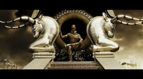 """Xerxes as depicted in Frank Miller's """"300"""".  Directed by Zack Snyder."""