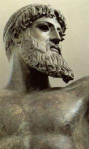 """The Greek deity Zeus, """"father of gods""""."""