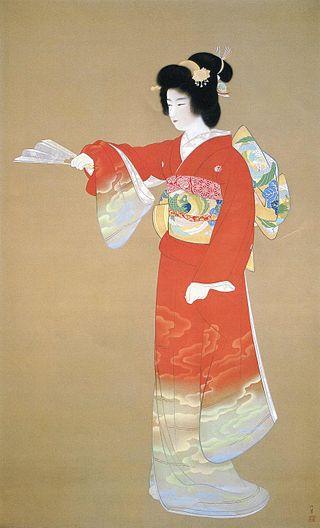 "Noh Dance Prelude, ""Jo No Mai"" by Uemura Shoen.  1936"