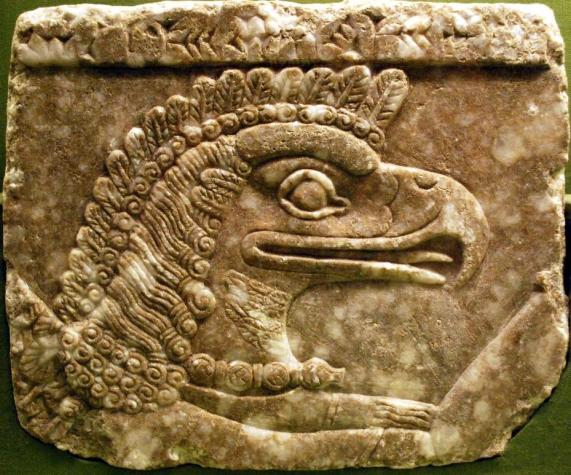 """An """"Apkallu"""", a demigod, or half human half divine creature.  The Sumerian stories say that they came before the great flood to share philosophy and culture with man.  Many theologians and bible researchers ask one question: whose philosophy and culture?  - British Museum"""