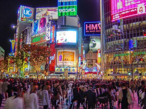 "Shibuya crosswalk, ""Center Gai""."